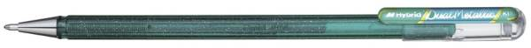 Gelschreiber Hybrid Dual Glitter 0,5 mm, grün metallic blau
