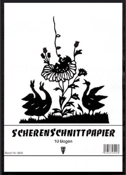 PENIG Scherenschnittpapier Heft A3 3901 10BL schwarz