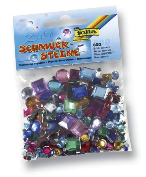 Schmucksteine eckig u rund ca 800 Teile, Größen Farben sortiert