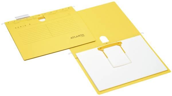 Hängehefter Serie E + Clip A4, Schlauchheftung, gelb