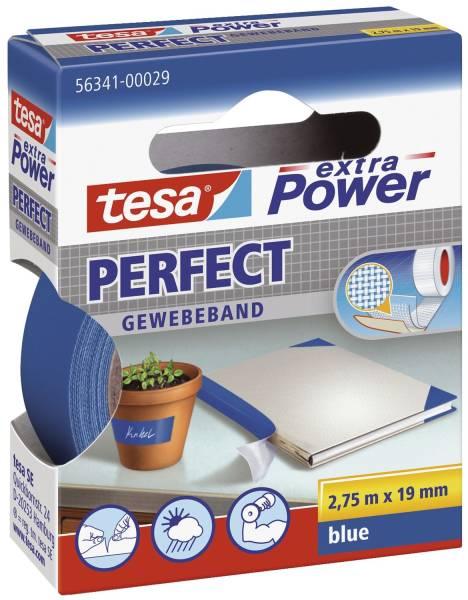 Gewebeklebeband extra Power Gewebeband, 2,75 m x 19 mm, blau