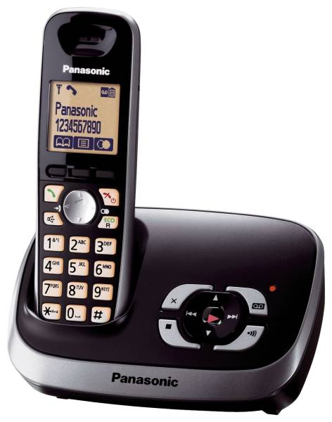 Telefon KX TG6521GB schnurloses, schwarz