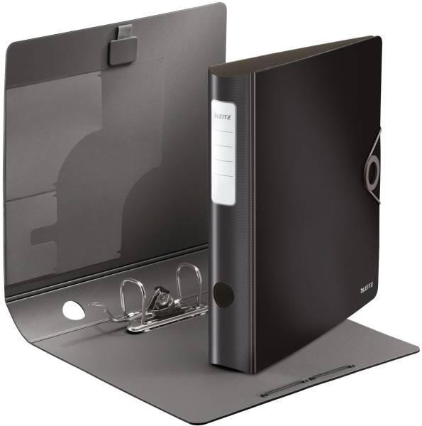 1048 Ordner 180° Active Solid A4, 6 cm, Innentaschen, Gummizug, schwarz