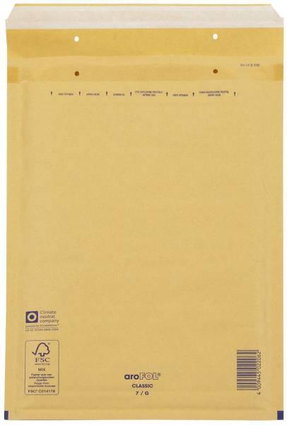 Luftpolstertaschen Nr 7, 230x340 mm, goldgelb braun, 100 Stück