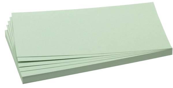 Moderationskarte, Rechteck, 205 x 95 mm, hellgrün, 500 Stück