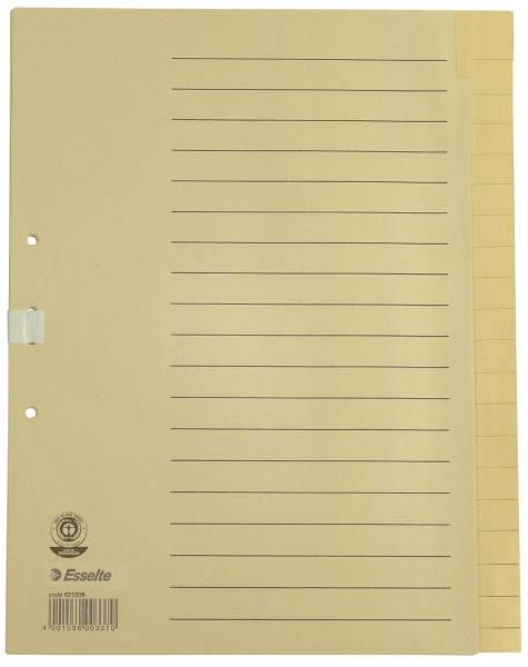 Register blanko, A4, Papier, 20 Blatt, chamois