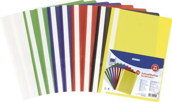STYLEX Schnellhefter Plastik A4 sort. 41162 10ST