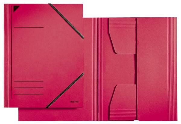 3981 Eckspannermappe A4, 250 Blatt, Pendarec Karton (RC), rot