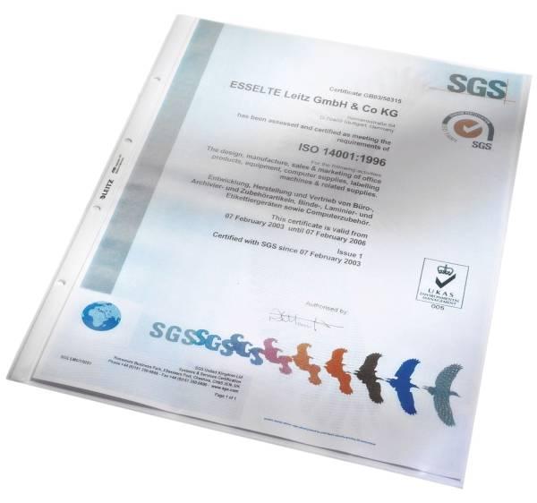 4702 Prospekthülle Standard, A3 hoch, PP, genarbt, dokumentenecht, farblos