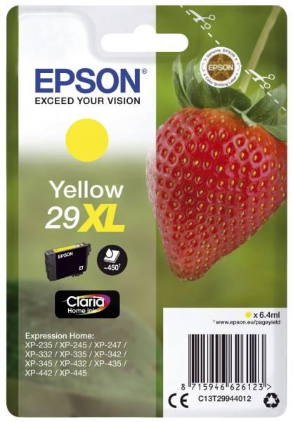 EPSON Inkjetpatrone Nr. 29XL yellow C13T29944012