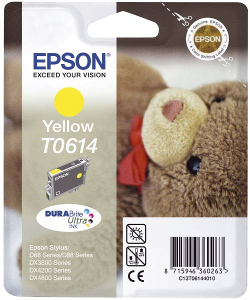 EPSON Inkjetpatrone T0614 yellow C13T06144010