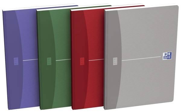 Office broschiertes Buch A4, 5 mm kariert, sortiert, perf Ecken