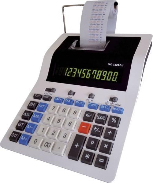 Tischrechner 1230C II druckend, weiß