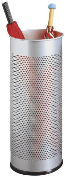 Schirmständer Metall rund 28,5 Liter, metallic silber