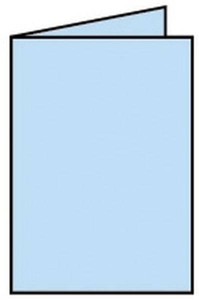 RÖSSLER Briefkarte A6 HD 5ST himmelblau 220706517