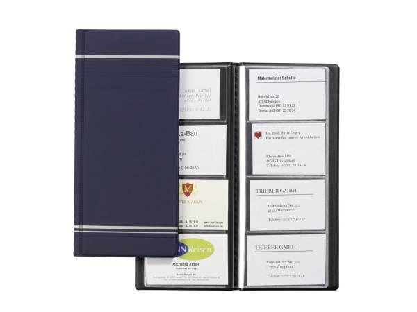 Visitenkartenalbum VISIFIX, für 96 Karten 90x57 mm, 118x250 mm, dunkelblau®
