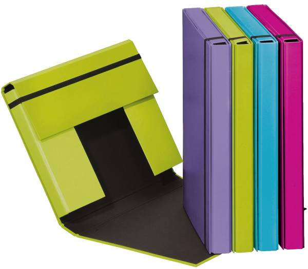 PAGNA Heftbox Trend A4 sortiert 21308-00 Gummizug