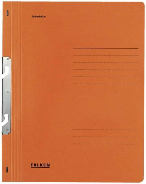 Einhakhefter A4 1 1 Vorderdeckel kfm Heftung, orange, Manilakarton, 250 g qm
