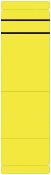 Ordner Rückenschilder breit kurz, 10 Stück, gelb