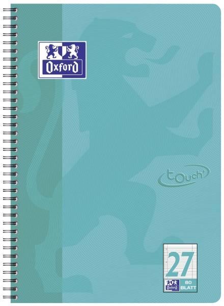 Collegeblock Touch Lin 27 A4, 80 Blatt, 90 g qm, 4 fach Lochung, aqua