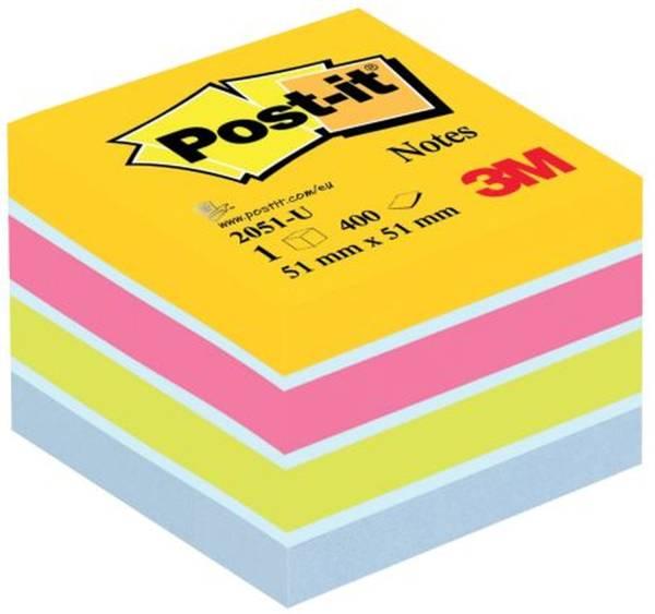 Haftnotiz Würfel Mini 51 x 51 mm, Ultrafarben (sortiert)