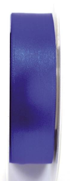 Doppelsatinband 25 mm x 25 m, königsblau