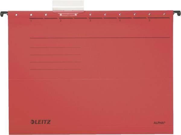 LEITZ Hängemappe Alpha UWS rot A4 1985-00-25