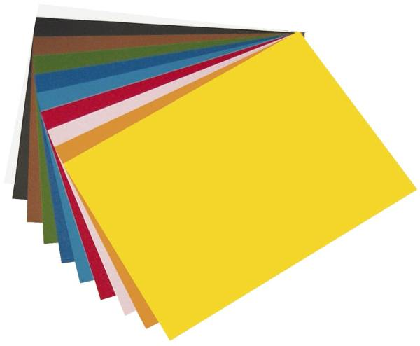 Tonpapier 50 x 70 cm, 10 Farben sortiert