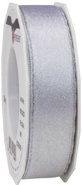 Zierband Glitter silber 79 2520-601 Satin 25 mm 20 m