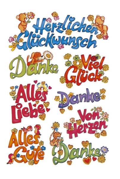 3813 Sticker DECOR Glückwünsche, beglimmert