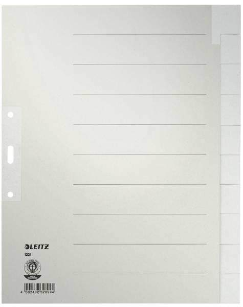 1221 Register Tauenpapier, blanko, A4 Überbreite, 10 Blatt, grau