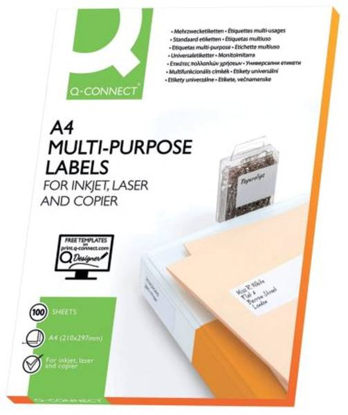 Inkjet+Laser+Kopier Etiketten 210,0x148,5 mm, weiß, 200 Stück 100