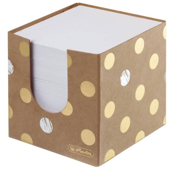 HERLITZ Zettelbox gefüllt Pure Glam 50021819 9x9x9cm