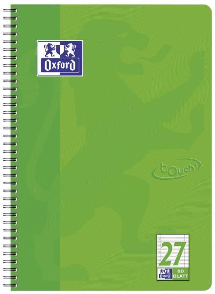 Collegeblock Touch Lin 27 A4, 80 Blatt, 90 g qm, 4 fach Lochung, grasgrün