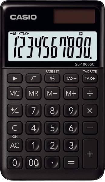 Taschenrechner SL 1000 Solar Batteriebetrieb, 10stellig, LC Display, schwarz
