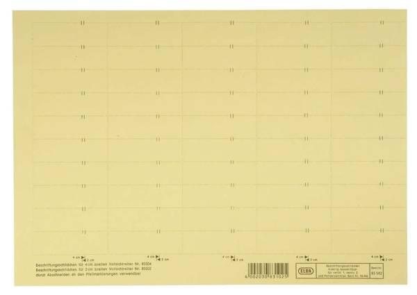 vertic Beschriftungsschild für Registratur, 58 x 18 mm, gelb, 50 Stück®