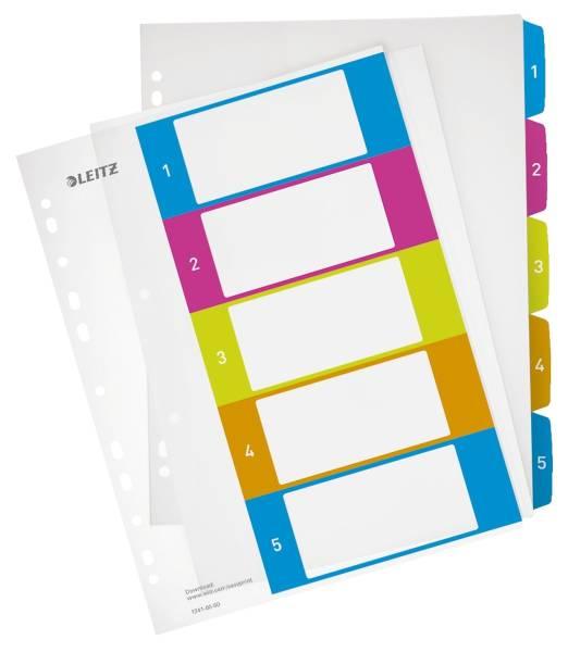 1241 Register Serie WOW 1 5, A4 Überbreite, PP, 5 Blatt, farbig