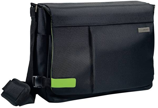 "Complete 15 6"" Messenger Bag Smart Traveller Polyester, schwarz"