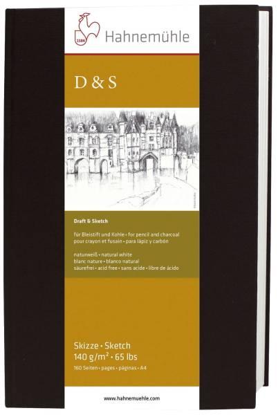 Skizzenbuch D&S A6, 140 g qm, 62 Blatt, HF=Hochformat