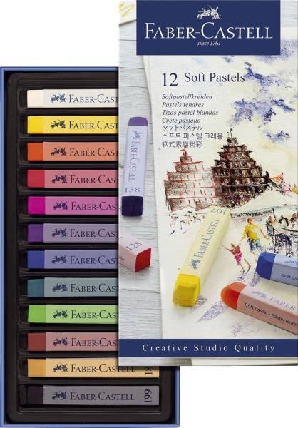 Creative Studio Softpastellkreide 12 Farben sortiert im Kartonetui