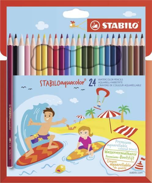 STABILO Farbstifte aquacolor 24er 1624-6