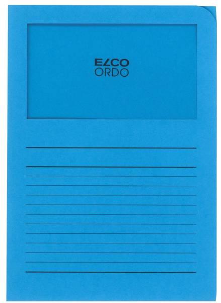 Sichtmappen Ordo classico mit Sichtfenster und Linien, intensiv blau, 100 Stück