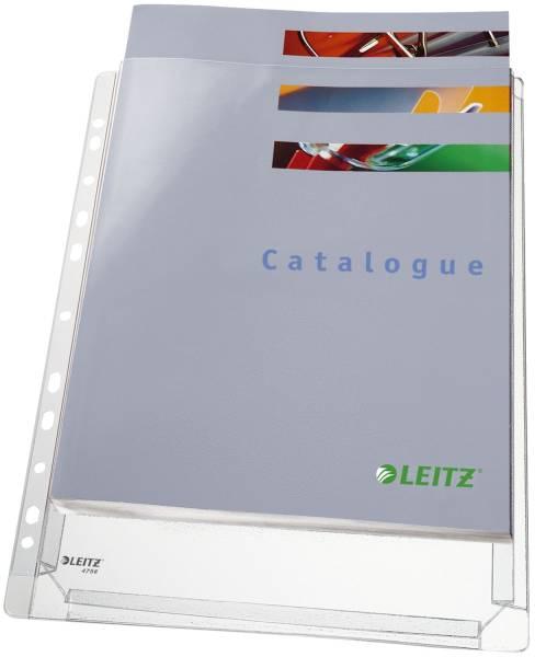 LEITZ Prospekthülle Maxi A4 genarbt 4756-30-03 PG5St