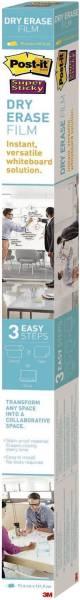 POST-IT Whiteboardfolie Super Sticky Dry Erase DEF4x3-EU 91.4x121.9cm