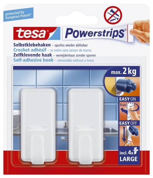 Powerstrips Systemhaken ablösbar, classic, Tragfähigkeit 2 kg, weiß®