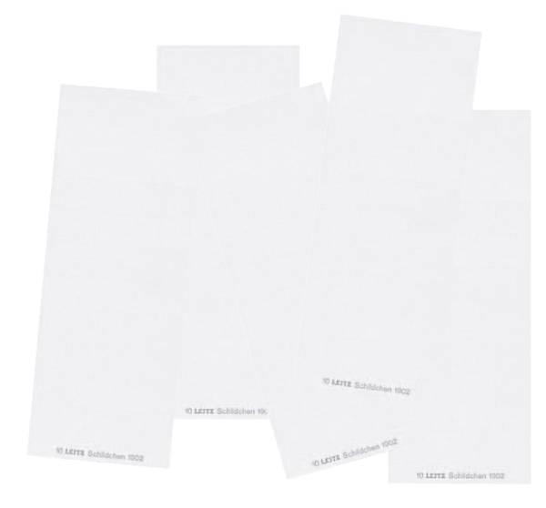 1902 Blanko Schildchen, für ALPHA, Karton, 100 Stück, weiß®