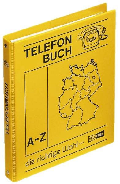 VELOFLEX Telefonringbuch A5 4R 16mm gelb 5158000