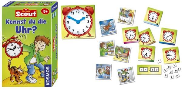 KOSMOS Mitbringspiel Scout 710545 Kennst du die Uhr?