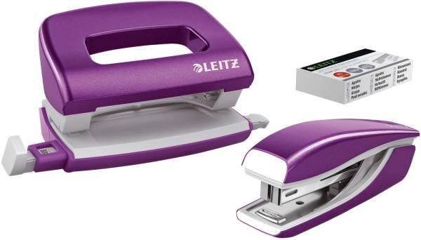 5561 Set Mini Locher Heftgerät NeXXt WOW violett metallic