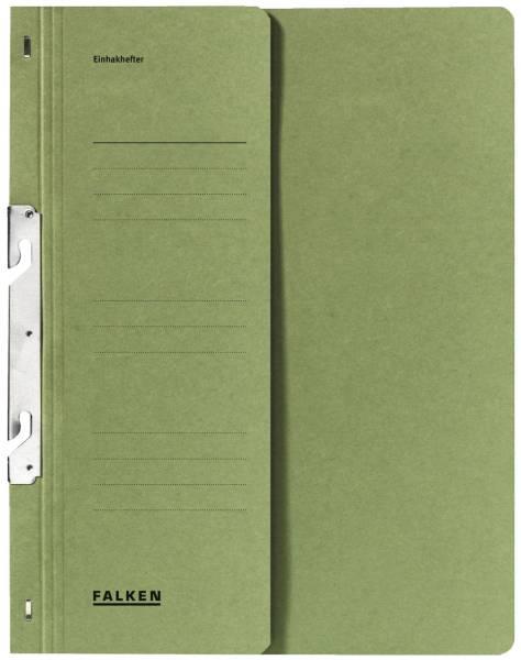 Einhakhefter A4 1 2 Vorderdeckel kfm Helfung, grün, Manilakarton, 250 g qm